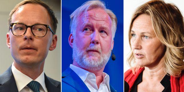 Mats Persson, Johan Pehrson och Juno Blom. TT