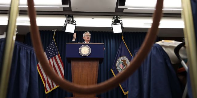 Arkivbild: Fed-chefen Jerome Powell.  ALEX WONG / GETTY IMAGES NORTH AMERICA