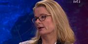 Liberalernas Lotta Edholm i Aktuellt.  SVT