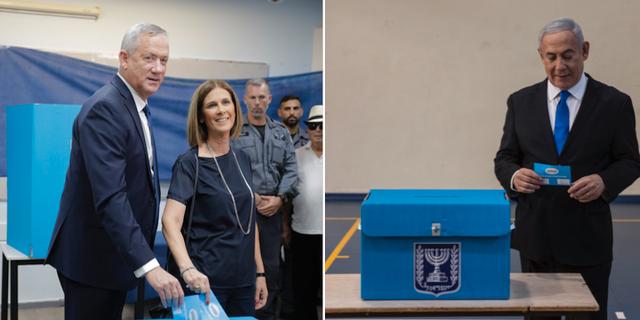Båda ledarna när de röstade den 17 september. Arkivbilder. TT