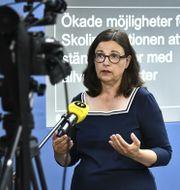 Utbildningsminister Anna Ekström (S. Claudio Bresciani/TT / TT NYHETSBYRÅN