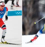 Marit Bjørgen och Charlotte Kalla. TT