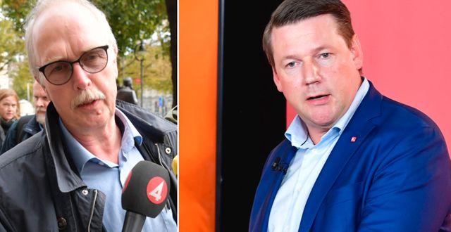 Valle Karlsson och Tobias Baudin. Arkivbilder. TT