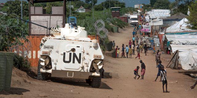 Arkivbild: Ett FN fordon i Sydsudan Jason Patinkin / TT NYHETSBYRÅN/ NTB Scanpix