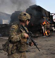 Arkivbild: Amerikansk soldat vid gränsen mellan  Afghanistan och Pakistan NOORULLAH SHIRZADA / TT NYHETSBYRÅN