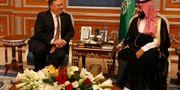 Mike Pompeo och Mohammed bin Salman. Leah Mills / TT NYHETSBYRÅN/ NTB Scanpix