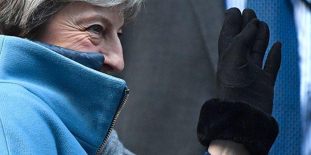 Theresa May. BEN STANSALL / AFP