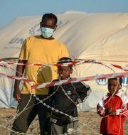 Migranter på Lesbos. Panagiotis Balaskas / TT NYHETSBYRÅN