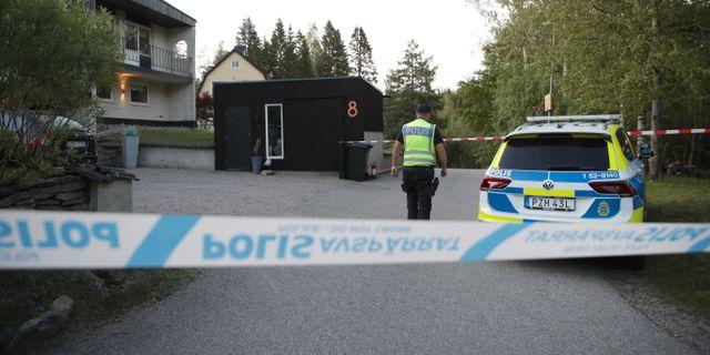 Bild från olycksplatsen. Adam Ihse/TT / TT NYHETSBYRÅN