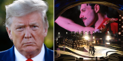 Donald Trump och bandet Queen. TT/AP