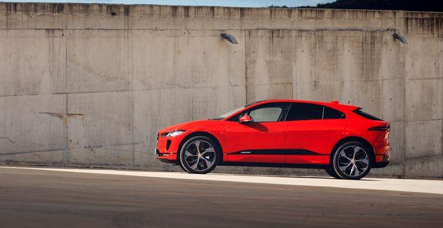Jaguar I-PACE har en räckvidd på upp till 470 kilometer. JED LEICESTER