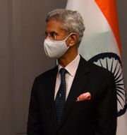 Amerikanska utrikesministern Antony Blinken och indiske utrikesministern Subrahmanyam Jaishankar. Ben Stansall / TT NYHETSBYRÅN