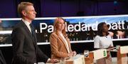 Per Bolund (MP), Annie Lööf (C) och LNyamko Sabuni (L) Fredrik Sandberg/TT / TT NYHETSBYRÅN