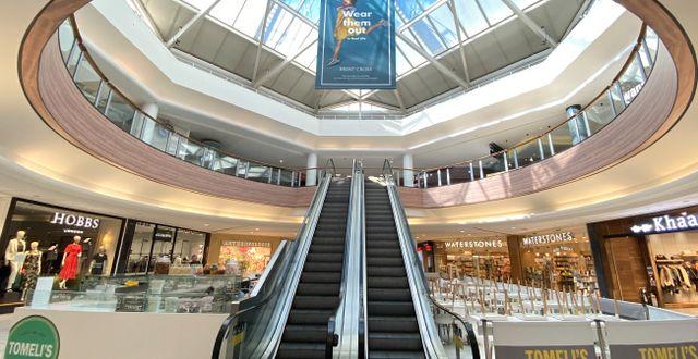 Illustrationsbild: Ett shoppingcenter i Brent Cross i London.  PAUL CHILDS / TT NYHETSBYRÅN