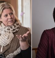 Camilla Waltersson Grönvall och Kristina Nilsson. TT