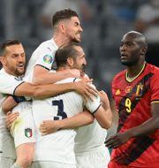 Italien slår ut Belgien ur fotbolls-EM. MATTHIAS HANGST / BILDBYRÅN