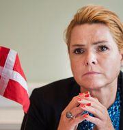 Danmarks utlännings- och integrationsminister Inger Støjberg. Arkivbild. Emil Langvad/TT / TT NYHETSBYRÅN