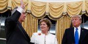 Tillerson svärs in som utrikesminister i februari 2017. Carolyn Kaster / TT NYHETSBYRÅN/ NTB Scanpix