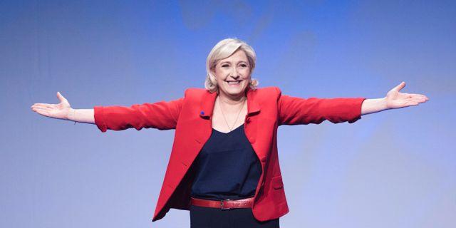 Marine Le Pen. Kamil Zihnioglu / TT NYHETSBYRÅN