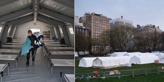 Fältsjukhuset i Central Park. TT