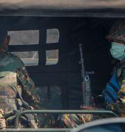 Militären i Myanmar. STR / TT NYHETSBYRÅN