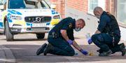 Arkivbild från polisens insats på platsen.  Johan Nilsson/TT / TT NYHETSBYRÅN