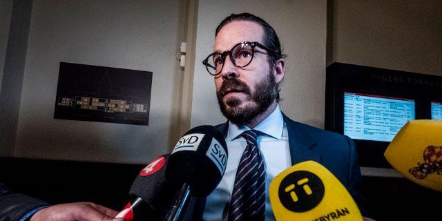Alexander Ernstbergers advokat Slobodan Jovicic. Magnus Hjalmarson Neideman/SvD/TT / TT NYHETSBYRÅN