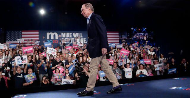 Michael Bloomberg kampanjade i Florida på tisdagen Lynne Sladky / TT NYHETSBYRÅN