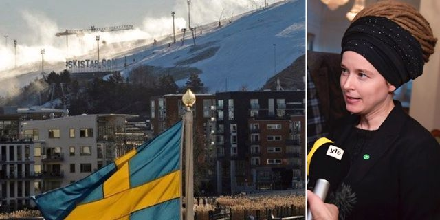 Genrebild Hammarbybacken och Amanda Lind (MP). Bildbyrån.