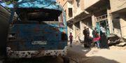 Arkivbild: Mellan 4000 och 8000 människor beräknas bo i Daraya TT / NTB Scanpix