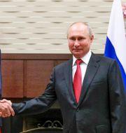 Turkiets president Recep Tayyip Erdogan och Rysslands president Vladimir Putin. Vladimir Smirnov / TT NYHETSBYRÅN
