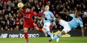 Mohammed Salah nickar in 2–0. CARL RECINE / BILDBYRÅN