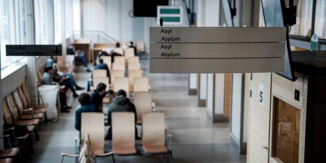 Väntsal för asylsökande på Migrationsverket i Solna. Arkivbild. Marcus Ericsson/TT / TT NYHETSBYRÅN