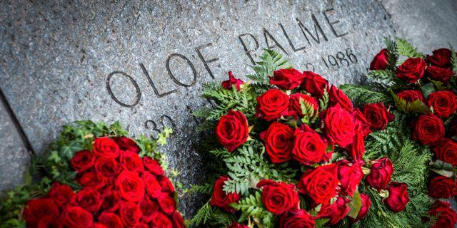 Olof Palmes grav. NORA LOREK / TT / TT NYHETSBYRÅN