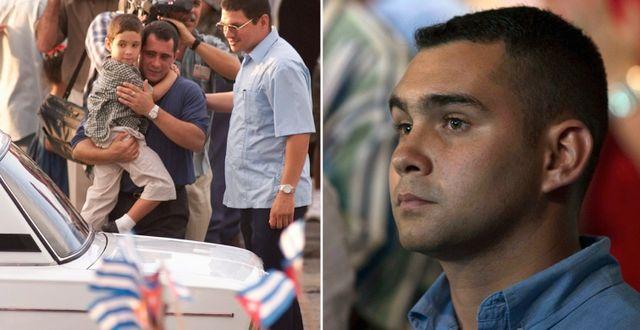 Elian Gonzalez då han återförenades med sin far 28 juni, 2000, samt på firandet av Fidel Castros 90-årsdag, 13 augusti, 2016. AP/AP