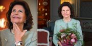 Drottning Silvia vid TT:s intervju inför hennes 75-årsdag den 23 december.  TT