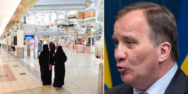 Kvinnor i Saudiarabien/Stefan Löfven.  TT