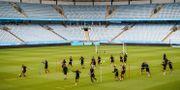Malmö FF tränar inför returmötet med Domzale. PETTER ARVIDSON / BILDBYRÅN