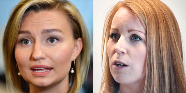 Ebba Busch Thor och Annie Lööf. TT
