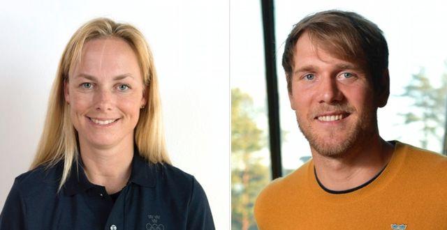 Sara Algotsson Ostholt och Max Salminen.  TT