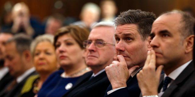 Labours ledning under kongressen i Liverpool. Alastair Grant / TT / NTB Scanpix
