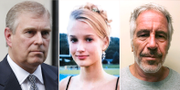 Prins Andrew, Jane Doe 15 och Jeffrey Epstein. TT