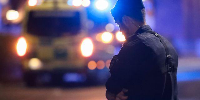 Polis på brottsplatsen Claus Meyer/TT / TT NYHETSBYRÅN