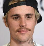 Justin Bieber, Snapchat-appen. Arkivbilder. TT