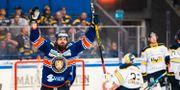 Växjös Roman Horak jublar efter 5-1 mot HV71. JONAS LJUNGDAHL / BILDBYRÅN