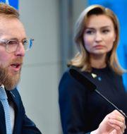 Jakob Forssmed och Ebba Busch. Henrik Montgomery/TT / TT NYHETSBYRÅN