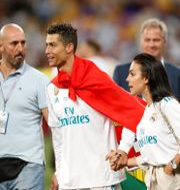 Cristiano Ronaldo firar efter Champions League-finalen.  ANDREW BOYERS / TT NYHETSBYRÅN