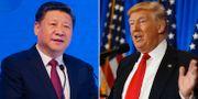 Xi Jinping/Donald Trump AP
