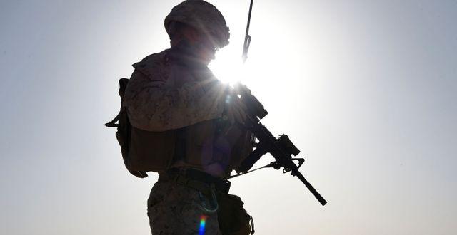 Arkivbild, amerikansk marinsoldat i Afghanistan. WAKIL KOHSAR / AFP