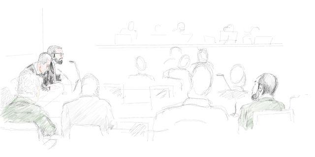 Åklagaren Per Lindqvist talar under rättegången, mot de tre misstänkta männen som misstänks för förberedelser för terrorbrott. Arkivbild. Ingela Landström/TT / TT NYHETSBYRÅN